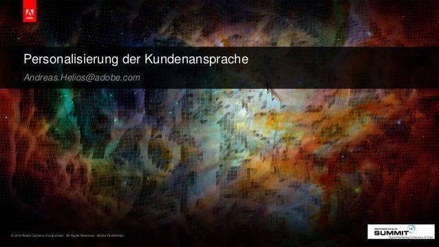 20130711 - Wie persönlich soll's denn heute sein? - Adobe Systems - Andreas Helios