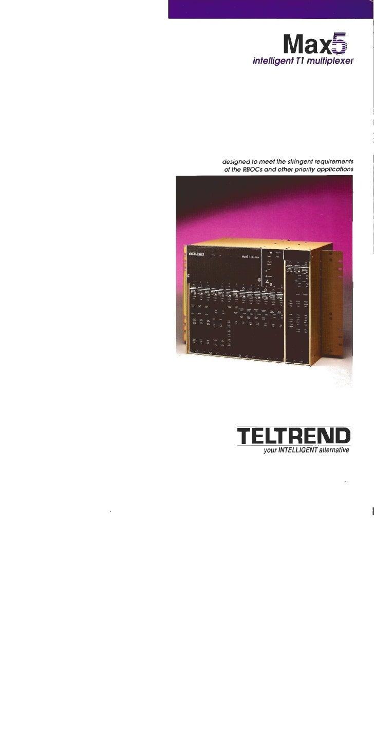 T1 Multiplexer   Teltrend