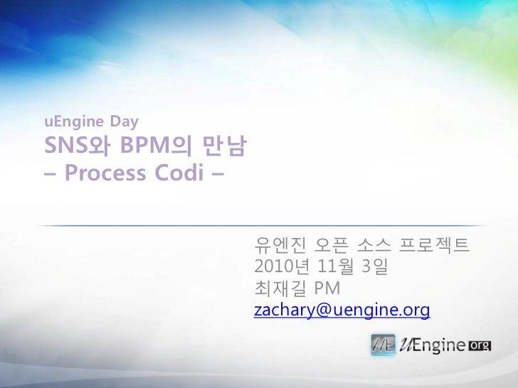 [uengine.org-uEngine Day] SNS와BPM의만남: 프로세스코디 프로젝트 발표자료