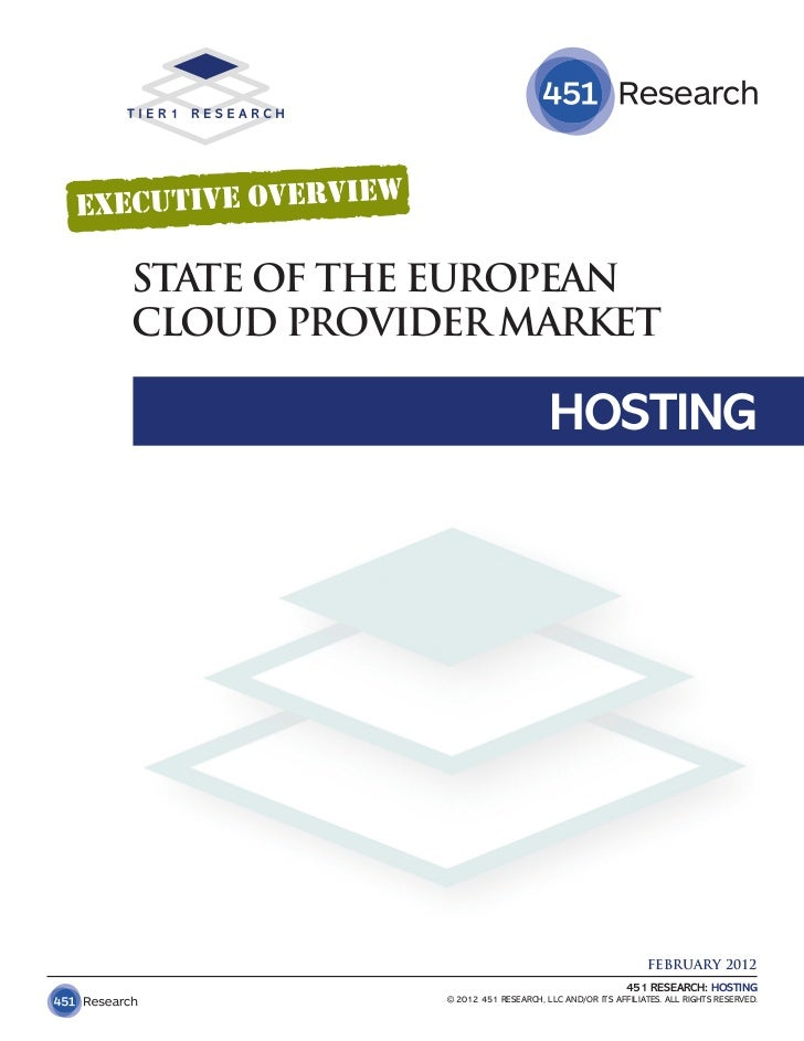 STATE OF THE EUROPEANCLOUD PROVIDER MARKET                                  HOSTING                                       ...