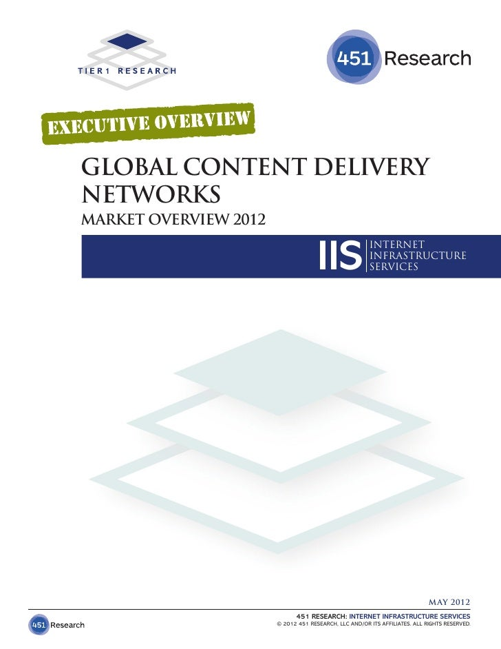 GLOBAL CONTENT DELIVERYNETWORKSMARKET OVERVIEW 2012                                     IIS               INTERNET        ...