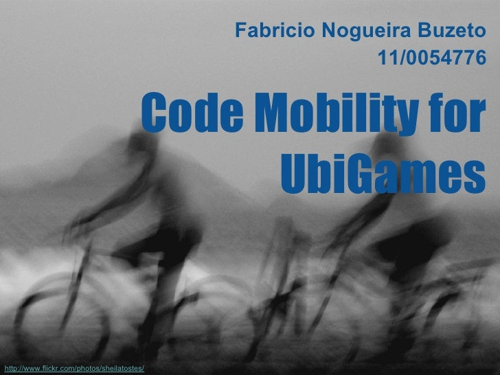 SMA-T2-Code Mobility for UbiGames
