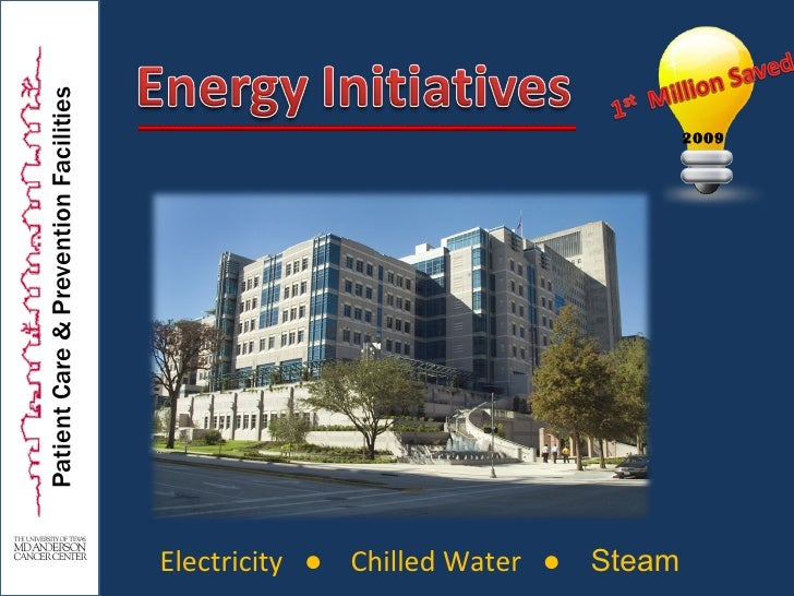 Patient Care & Prevention Facilities Electricity  ●   Chilled Water  ●   Steam 2009