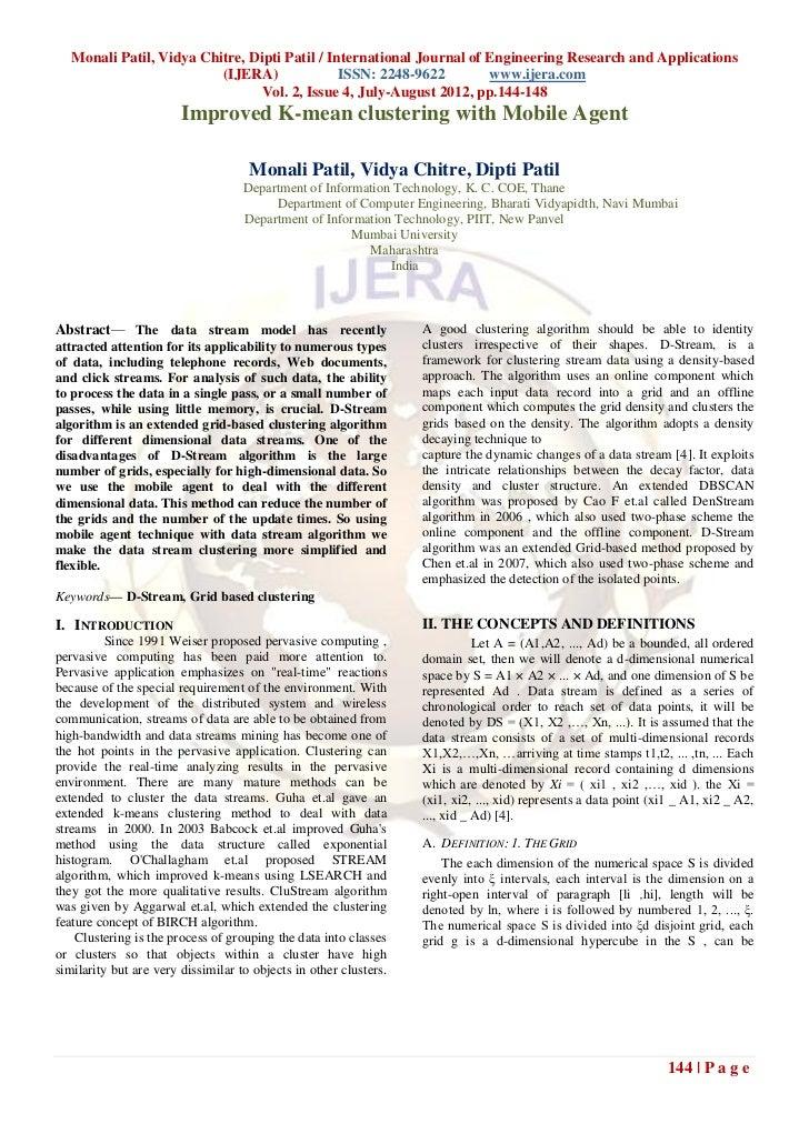 Monali Patil, Vidya Chitre, Dipti Patil / International Journal of Engineering Research and Applications                  ...