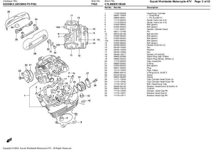 T250 parts manual