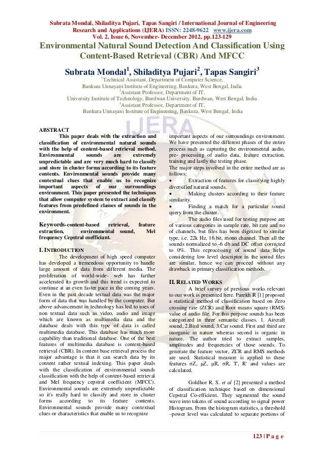 Subrata Mondal, Shiladitya Pujari, Tapas Sangiri / International Journal of Engineering             Research and Applicati...