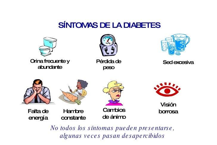 LA DIABETES : SINTOMAS