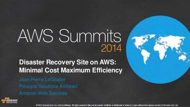 AWS Summit Stockholm 2014 – T3 – disaster recovery on AWS