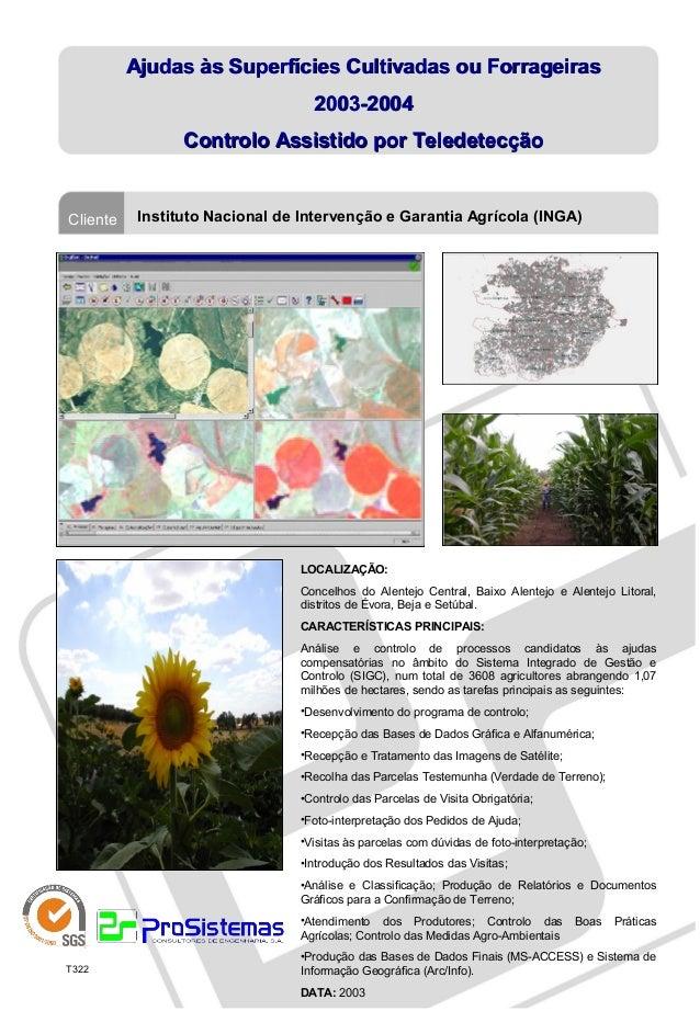 Controlo Assistido por Teledetecção às Ajudas às Superfícies Cultivadas ou Forrageiras (2003-2004)