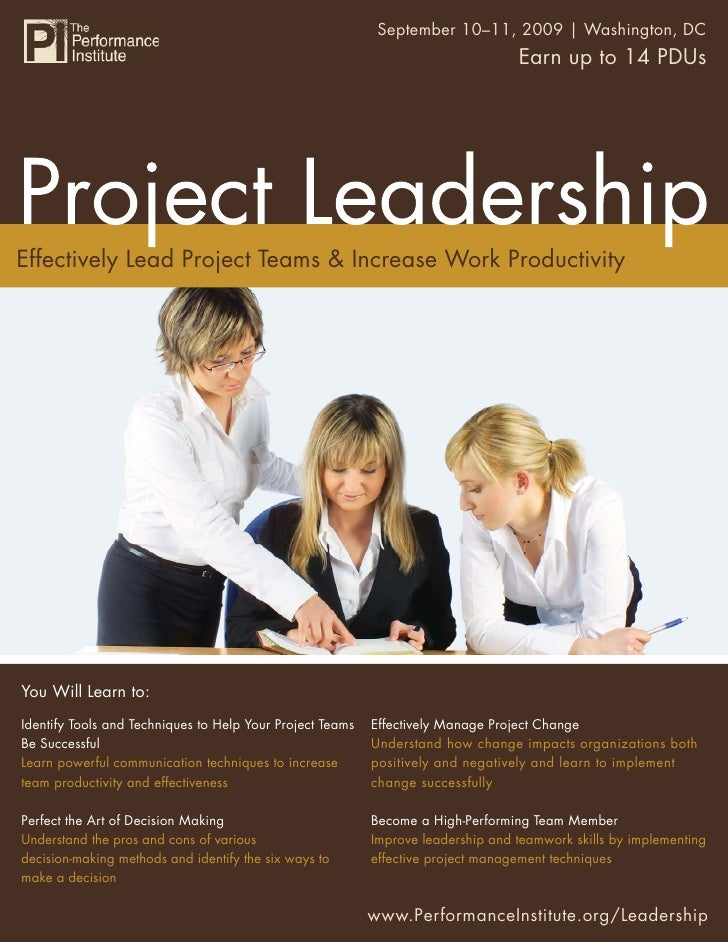 Project Leadership 10–11, 2009 | Washington, DC                                                         September         ...