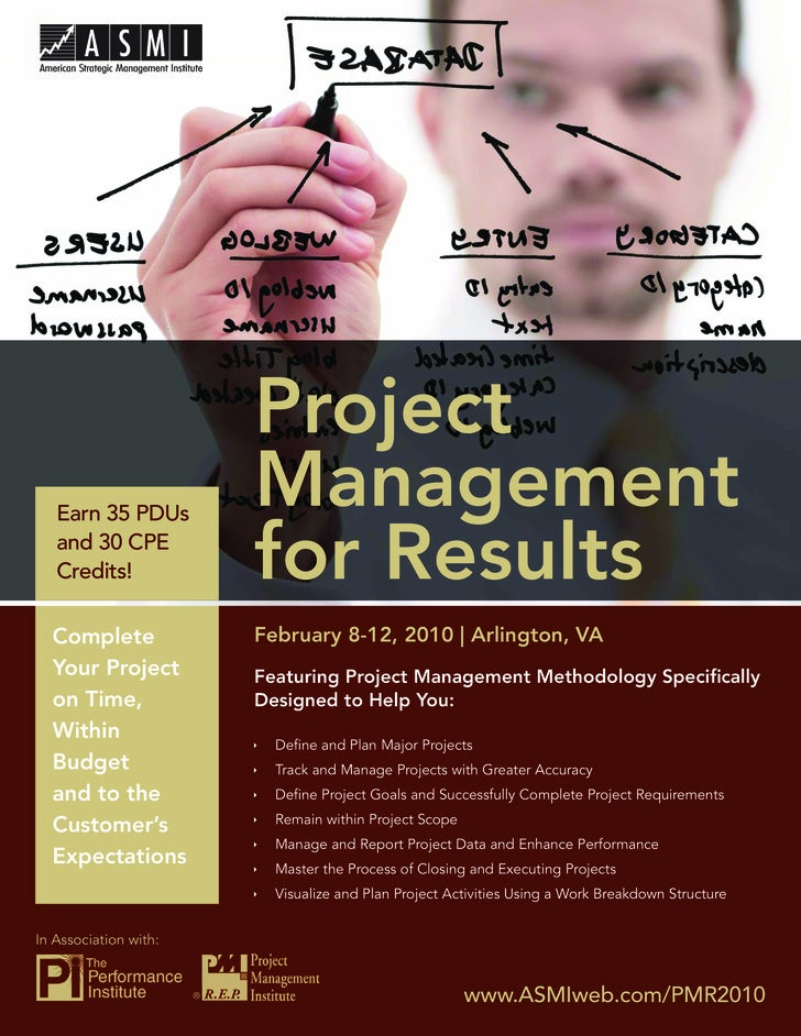 Project Management for Results                                Project    Earn 35 PDUs                            Managemen...
