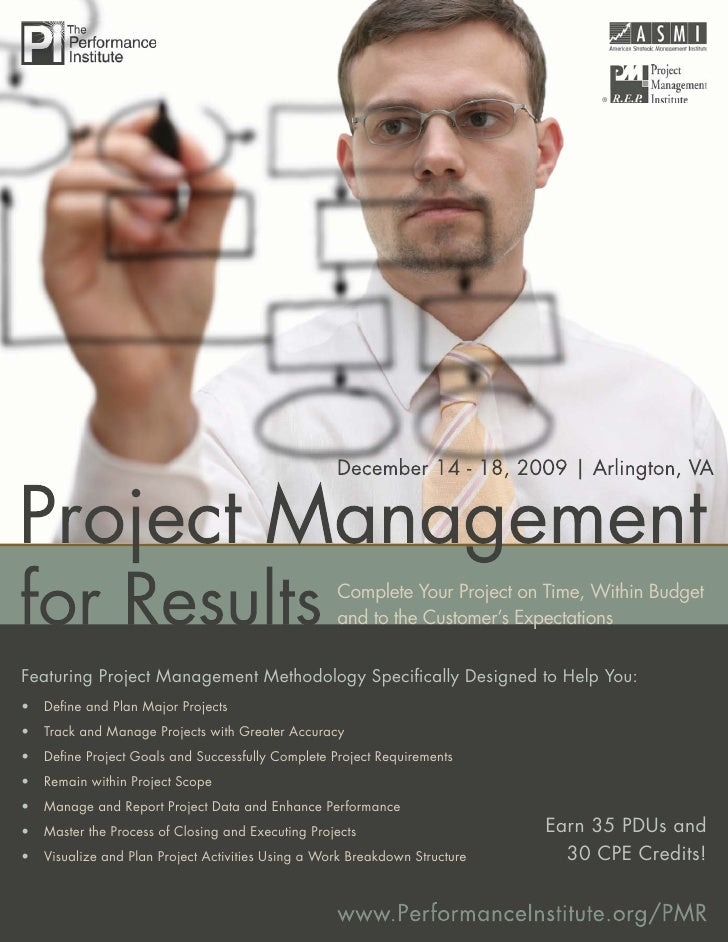 Project Management for Results                                                             ®                              ...