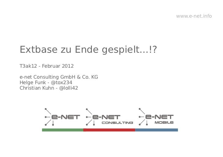 T3ak12 extbase