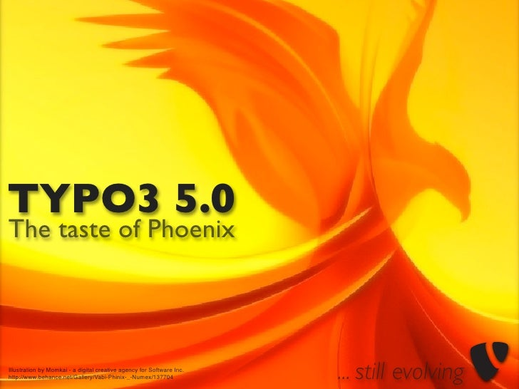 TYPO3 5.0 The taste of Phoenix     Illustration by Momkai - a digital creative agency for Software Inc. http://www.behance...