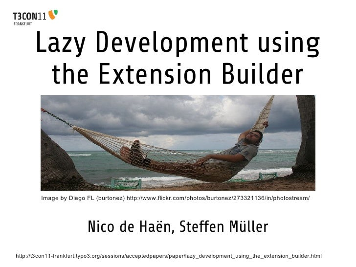 T3CON11: Lazy Development using the Extension Builder