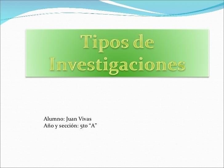 """Alumno: Juan Vivas  Año y sección: 5to """"A"""""""