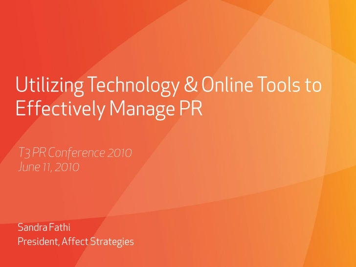 Tools & Technology for High Tech PR
