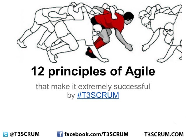 12 principles of Agilethat make it extremely successful        by #T3SCRUM