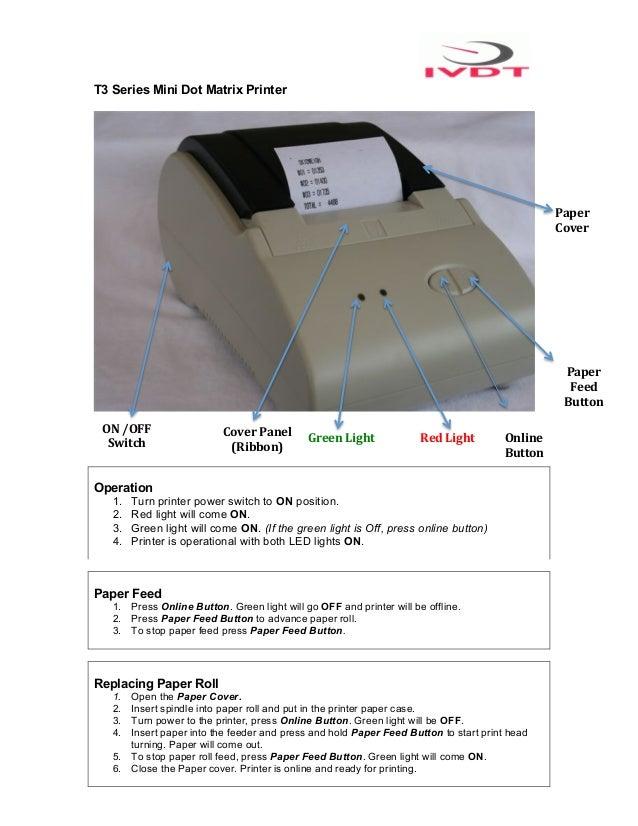 T3 Series Mini Dot Matrix Printer                                                                                         ...