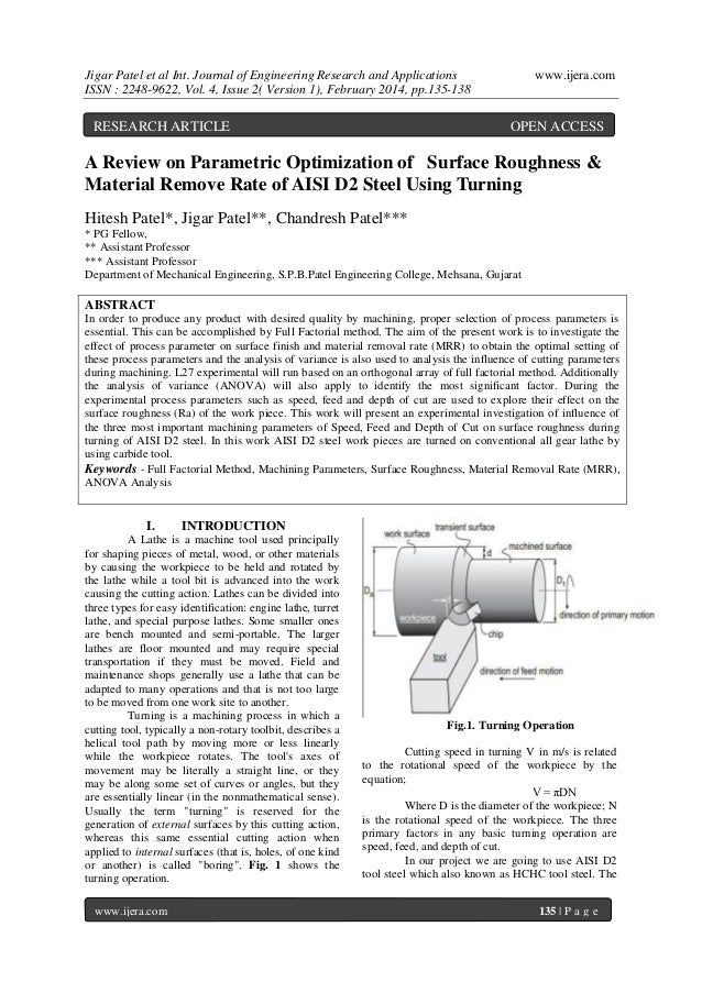 Jigar Patel et al Int. Journal of Engineering Research and Applications ISSN : 2248-9622, Vol. 4, Issue 2( Version 1), Feb...