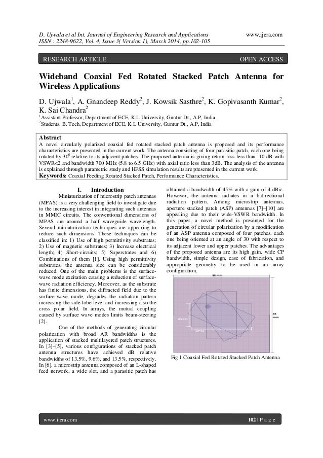D. Ujwala et al Int. Journal of Engineering Research and Applications www.ijera.com ISSN : 2248-9622, Vol. 4, Issue 3( Ver...