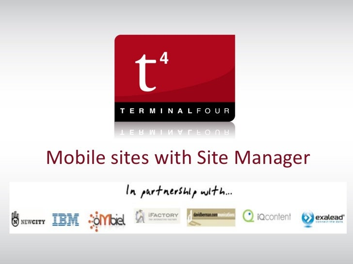 Mobile sites with Site Managert44u 2011