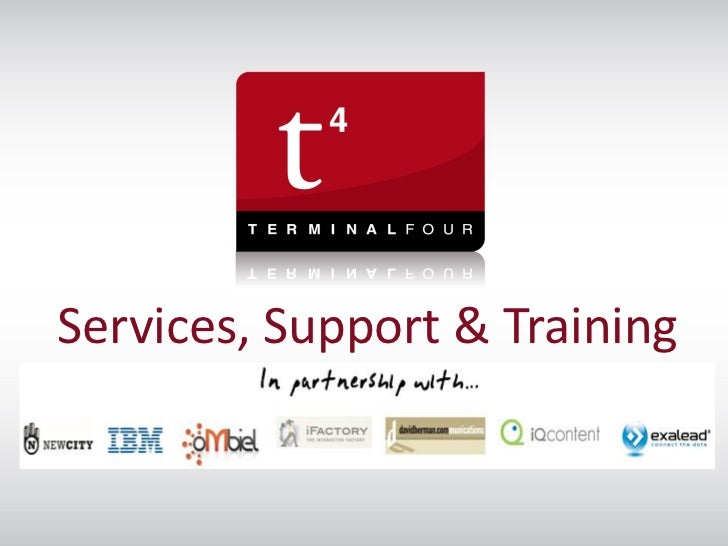 TERMINALFOUR t44u 2011 - Services, Support and Training