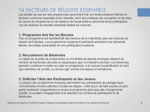 T4 facteurs de réussite essentiels