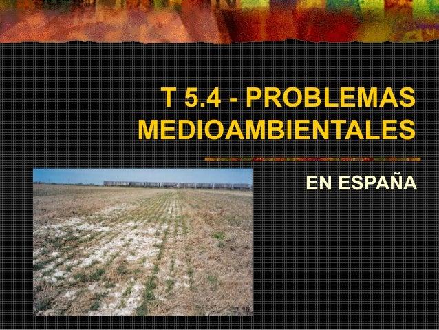 T 5.4 - PROBLEMAS MEDIOAMBIENTALES EN ESPAÑA
