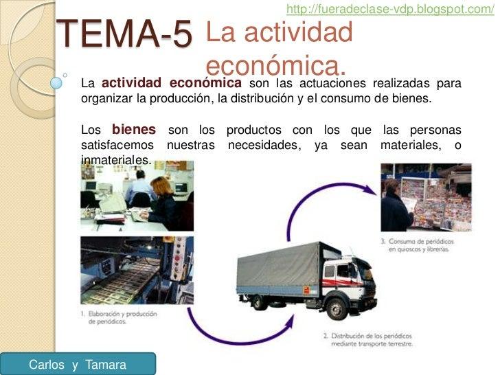http://fueradeclase-vdp.blogspot.com/    TEMA-5              La actividad                        económica. realizadas par...