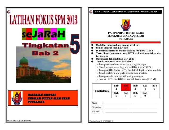 Bab 2 : NASIONALISME DI MALAYSIA SEHINGGA PERANG DUNIA KEDUA                  SeJaRaH                                     ...