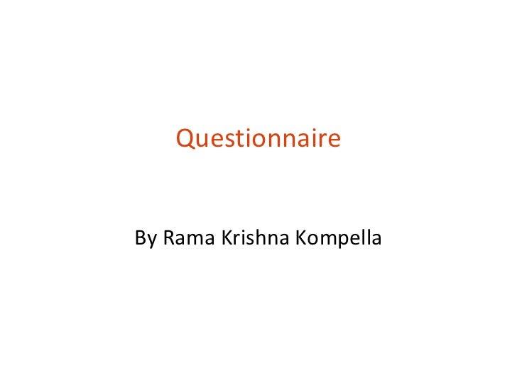 T6 questionnaire