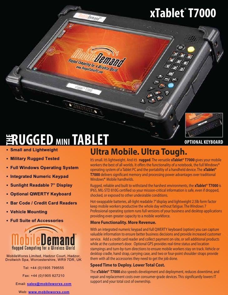 xTablet T7000           ®   RUGGED MINI TABLETTHE                                                                         ...