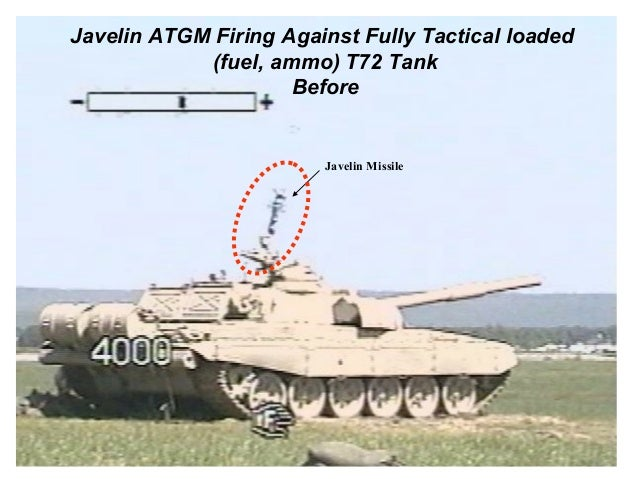 Javelin ATGM Firing Against Fully Tactical loaded            (fuel, ammo) T72 Tank                     Before             ...