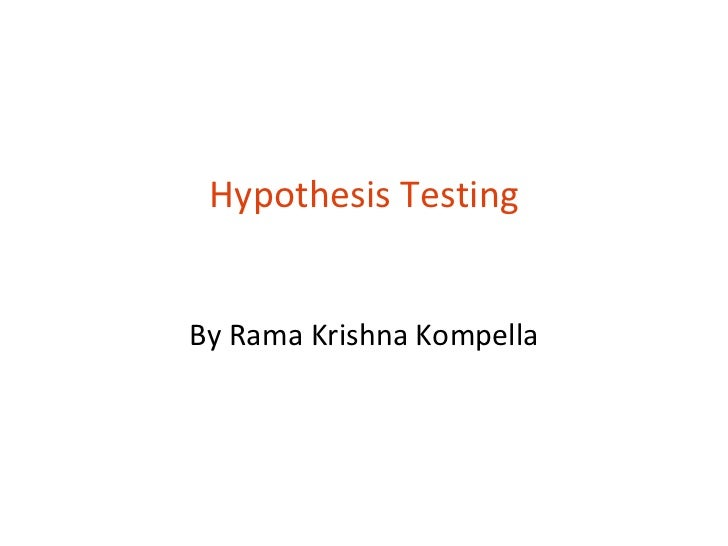 T8 hypothesis testing