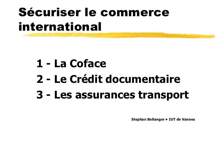 Securite international business - french