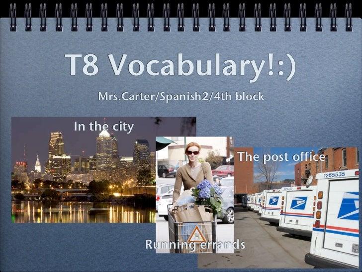 T8 vocab.