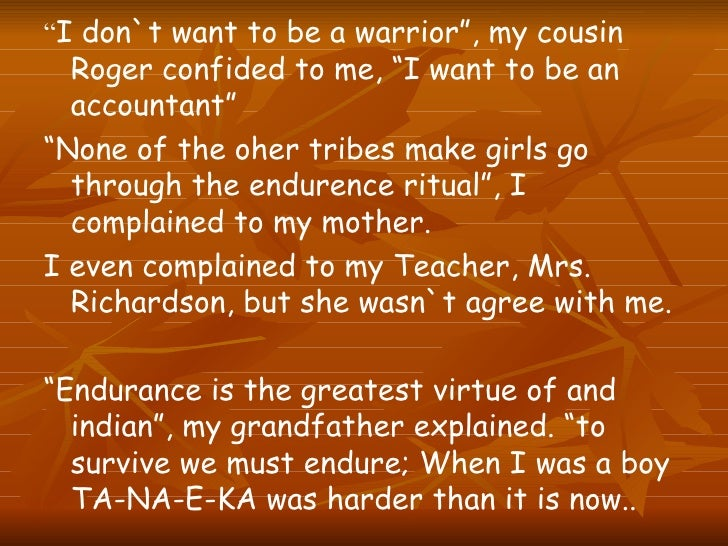 psychoanalysis of ta na e ka Ta-na-e-ka talks about a girl, mary, who has to go for a camp that's called ta-na-e-ka in which all the kids who become eleven-year old should participate this is a traditional ritual of the kaw people from whom mary descends.