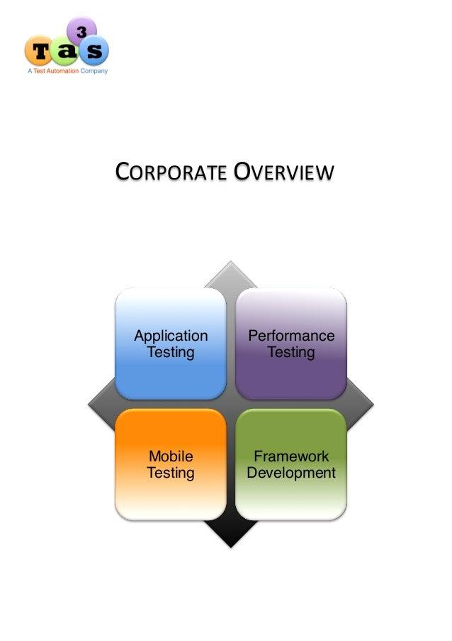 Ta3s Corporate Overview Brochure
