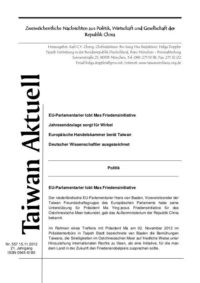 Zweiwöchentliche Nachrichten aus Politik, Wirtschaft und Gesellschaft der                                               Ch...