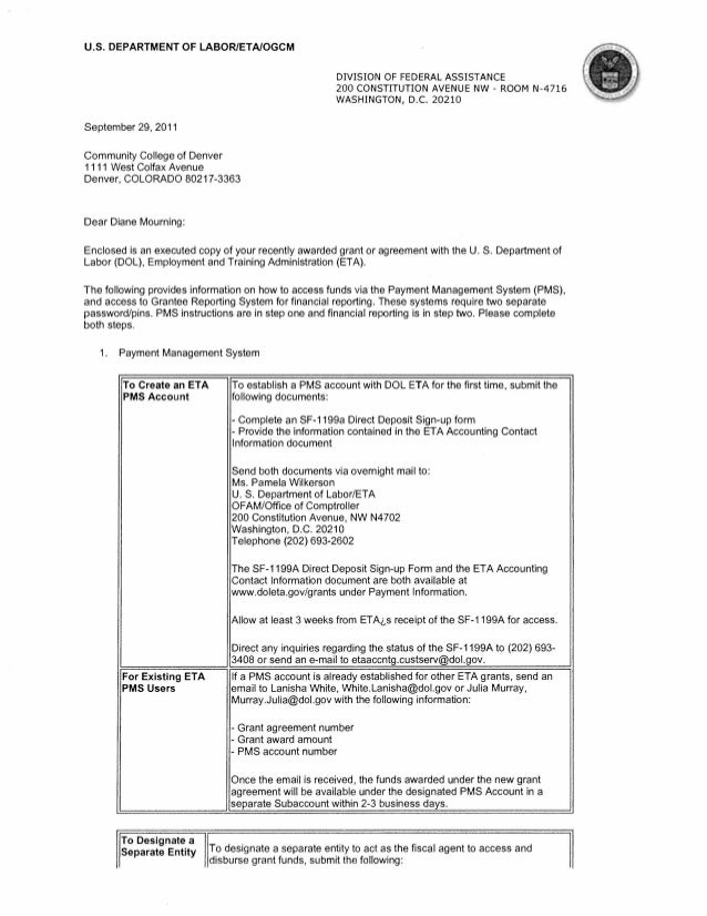 TAA COETC Award Letter