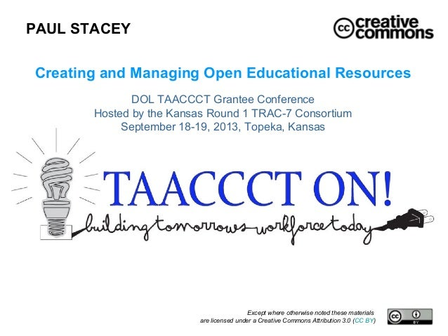 Creating and Managing Open Educational Resources