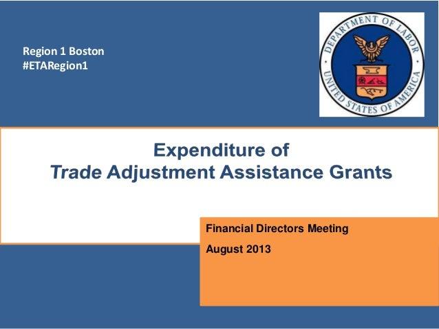 Region 1 Boston #ETARegion1 Financial Directors Meeting August 2013