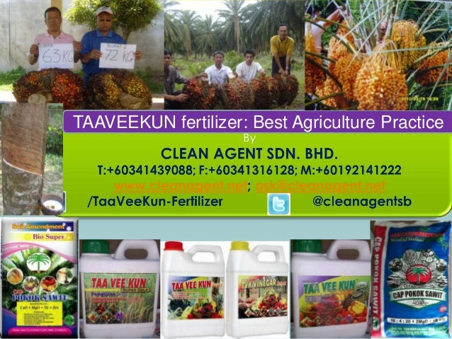 TAAVEEKUN fertilizer: Best Agriculture Practice