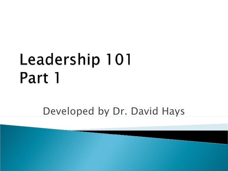 Leadership 101 - Part 1