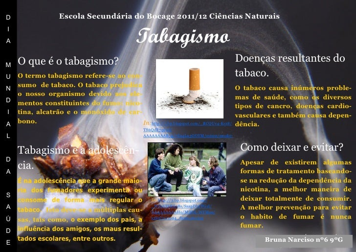 D                 Escola Secundária do Bocage 2011/12 Ciências Naturais                                              Tabag...
