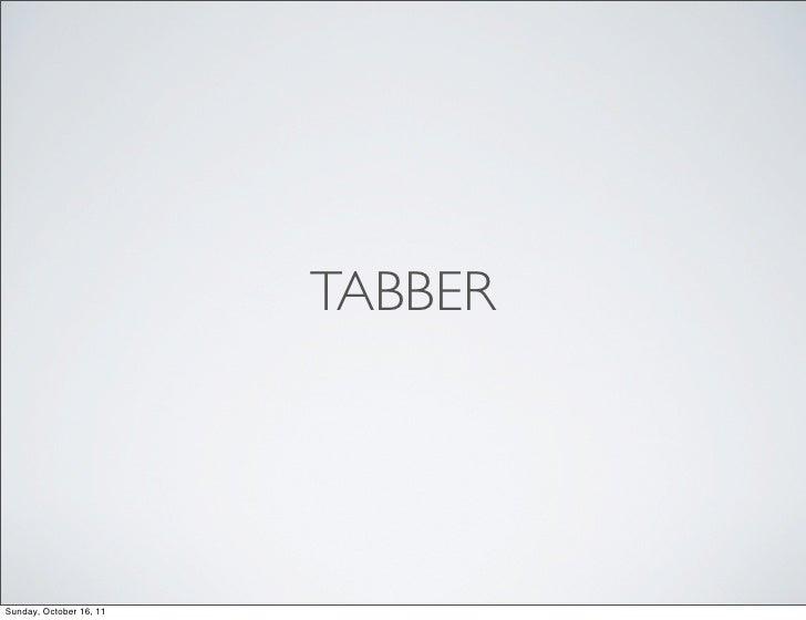 Tabber presentation