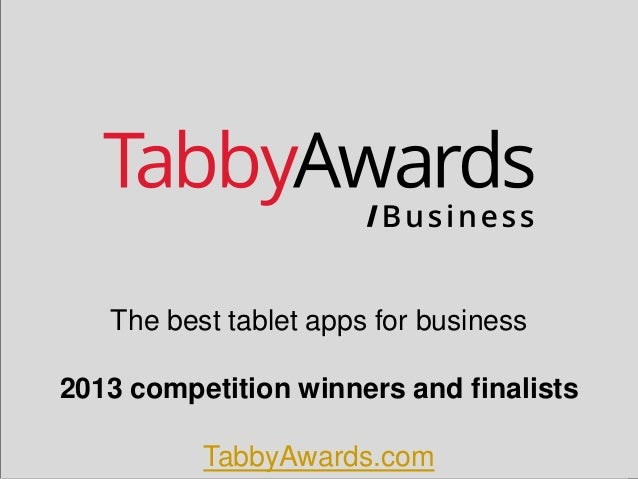 The best tablet apps for business 2013 competition winners and finalists  TabbyAwards.com