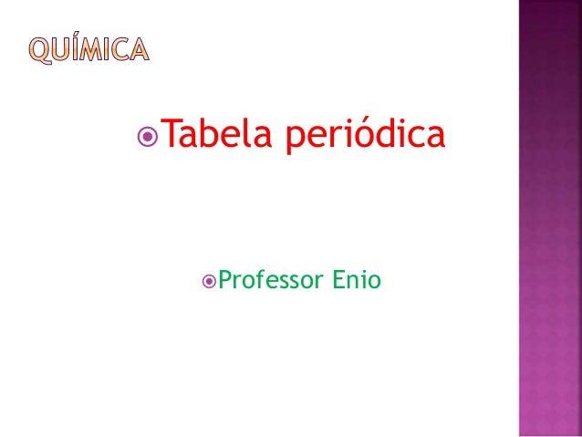 Tabela periódica Professor Enio