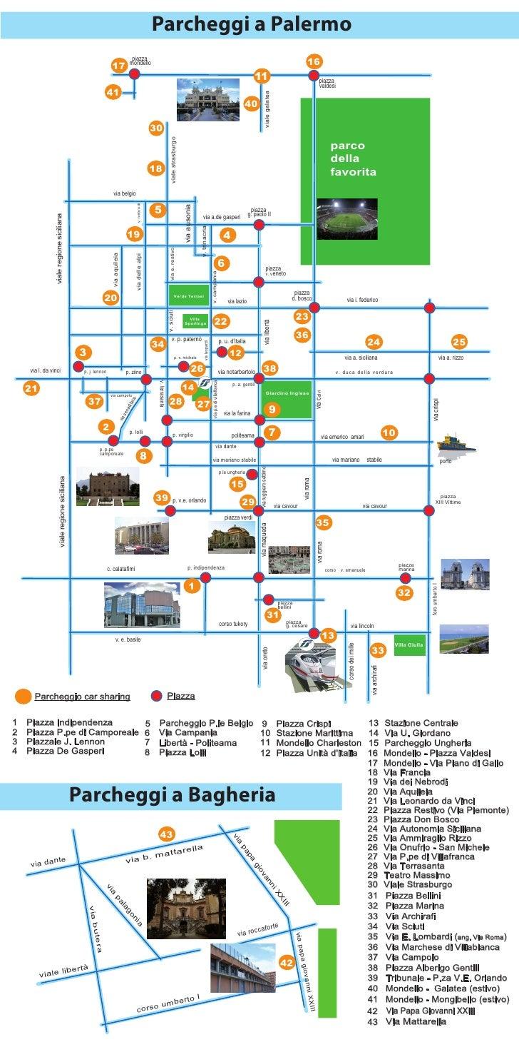 Carsharing Palermo - Tabella Stradale